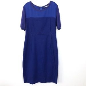 Max Mara Silk and Cotton Blue Dress